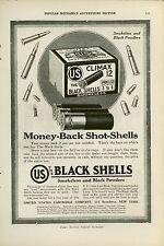 1919 US Cartridge Ad Black Shells Shotgun Lead Shot Hunting Shooting Gun