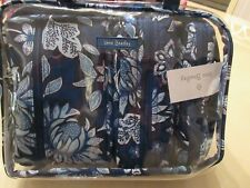 Vera Bradley Tropics Tapestry 4PC Cosmetic Organizer Clear Tote Travel Bag NWT