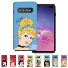 Disney Face Princess Bumper Cover Galaxy S20 Ultra S10 S9 Note20 10 9 Plus Case