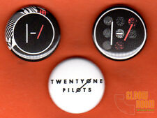 "Set of three 1"" Twenty One Pilots pins buttons 21 band blurryface version 2"