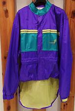 Radregenjacke  Gr.  L   Fabrikat Jeantex   Farbe violett / grün / gelb