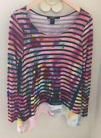 Desigual Women's Aretha Long Sleeve T-Shirt Top Size Small
