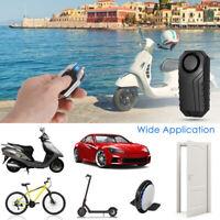Wireless Anti-Theft Alarm Waterproof Vibration Motorcycle Bicycle Bike Alarm