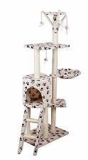 2017 Cat Scratching Post Scratcher Tree Activity Toy Pet Playing Centre Climbing Beigewithpaw