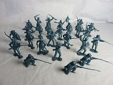MARX Recast Confederate Toy Soldiers 25 figures (Metallic Blue) - 54MM scale