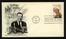 MASONIC DeMoley Walt Disney 1968 Fleetwood First Day #1355  Marceline, MO unaddr