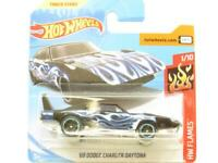 Hot Wheels 69 Dodge Charger Daytona Blue 31/250 Short Card 1 64 Scale Sealed New