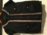 short sleeve BCBG MAX Azria jacket, black, size small