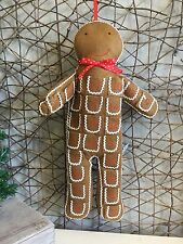Gisela Graham Christmas fabric gingerbread man advent calendar 65cm