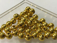 Acryl Perlen Kugel  gold 50 Stück 8 mm Spacer Basteln Schmuck Basteln G175AU