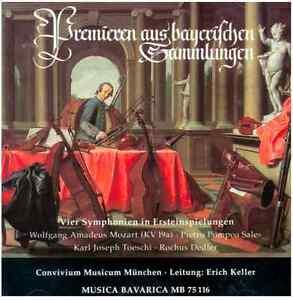 Premieren aus bayerischen Sammlungen - Ersteinspielungen:,  u.a. W.A. Mozart