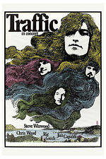 Steve Winwood & Traffic at Germany Promotional Concert Poster 1971