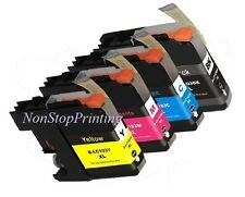 4 New Hi-Yield Ink For Brother LC103 XL LC101 DCP-J172W J411DW MFC-J650DW J875DW