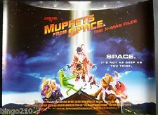 MUPPETS FROM SPACE ORIGINAL 1999 QUAD POSTER KERMIT ANIMAL MISS PIGGY MUPPET