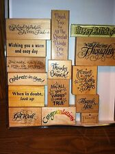 Mounted Rubber Stamps - Crafts - 15 Stamps w/ different sayings