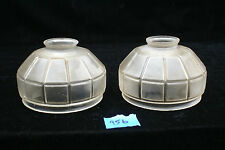 Pair of Arts & Crafts Frosted Shades  Lamps Fixtures Chandeliers Sconces