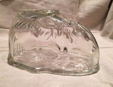 Vintage Retro Kitchenalia Glass Rabbit Jelly Mould with Flat Stand. 1 Pint Size
