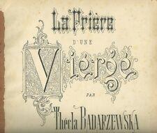 Spartito Musicale La Prière d'une Vierge per Piano di Thecla Badarzewska Ricordi