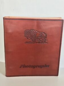 Western Embossed Leather Photo Album for 4x6 Pictures
