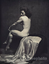 1937 Vintage Art Deco FEMALE NUDE Fine Photo Lithograph ALFRED CHENEY JOHNSTON