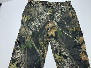Men's Fieldstaff Mossy Oak Breakup Camo Cargo Hunting Pants Size 40x32