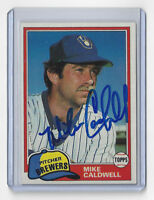 1981 BREWERS Mike Caldwell signed card Topps #85 AUTO Autographed Milwaukee