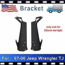 """97-06 Jeep Wrangler TJ Mounting Bracket for 52"""" 300W LED Light Bar Steel Upper"""