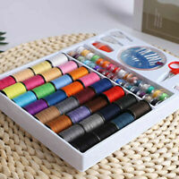 64Spools Assorted Colors Sewing Threads Set Sewing Tools Needlework Kit