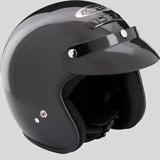 ROCC CLASSIC Jethelm schwarz glänzend Schirm Retro Motorradhelm Rollerhelm Helm
