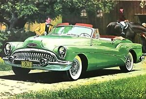 "1953 ""BUICK SKYLARK CONVERTIBLE""  Poster Art Print (23"" x 12"") William J Sims"