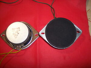 """(2) Car Speakers CAR Stereo AUDIOVOX OEM GM DASH replacements.4ohm.3-1/2"""" NOS"""