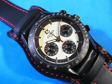 ALPHA 1957  PANDA DIAL 3-REGISTERED CHRONOGRAPH PVD COATING MOON WATCH