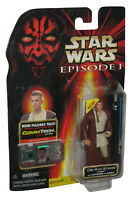 Star Wars Episode I The Phantom Menace Obi-Wan Kenobi Naboo Figure w/ CommTech