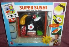 SUPER SUSHI By SMALL WORLD TOYS 14 Pc Play Set, Intro Kids To JAPANESE CUISINE