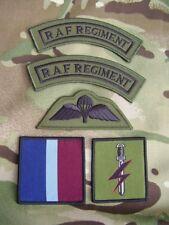 RAF Regiment SFSG Military Combat Jacket/Shirt Titles,Para Wings+TRF Badge Set G