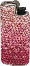 Mini BIC Feuerzeughülle pink Swarovski Elements voll besetzt + BIC Feuerzeug NEU