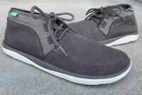 Sanuk What a Tripper Men's 10 Gray Mesh Chukka Sneaker Boots