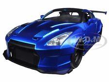 """BRIAN'S 2009 NISSAN GTR R35 BLUE BEN SOPRA """"FAST & FURIOUS """" 1/24 BY JADA 98271"""