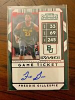 Freddie Gillespie 2020-21 Panini Contenders Draft #101 Red Foil Auto RC (Baylor)