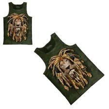 Reggae Rasta Lion Dreadlocks The Mountain Hand Dyed Dye Tank Top Large SALE