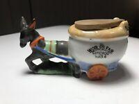 Vintage 1934 Chicago World's Fair Donkey Pulling Toilet Ashtray Exc Vintage Cdn!