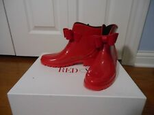 NEW Auth RED Valentino PVC Bow Rain Boots, RASPBERRY Size 37/7
