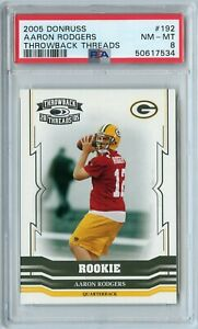 2005 Donruss Aaron Rodgers Throwback Threads Rookie 352/999 #192 PSA 8 PACKERS