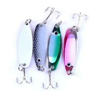 1pc Colorful Trout Spoon Metal Fishing Lures Spinner Bass Tackle New Baits E9A4