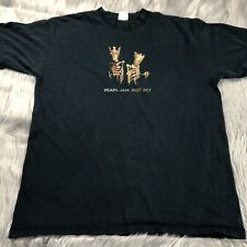 Pearl Jam 2003 Riot Act Black North America Tour T Shirt Grunge Sz Large Worn