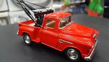 1955 Chevy Stepside pick up wrecker red kinsmart TOY model 1/32scale diecast Car
