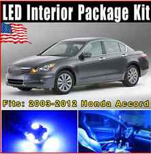14X Blue LED Lights Interior Package Kit 2003-2012 For Honda Accord Coupe&Sedan