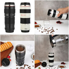 400mL Camera Lens Shaped Stainless Steel Water Cup Coffee Mug Tea Cups with Lids