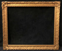 Antique Vintage Victorian Gilded Wood Gesso Frame Gold Gilt Oil Painting Frame