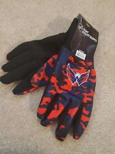 RARE NHL Washington Capitals FOREVER Collection Camo Gloves - One Pair LARGE